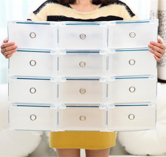 Transparente caja de almacenamiento caj n de caja de - Cajas transparentes para zapatos ...