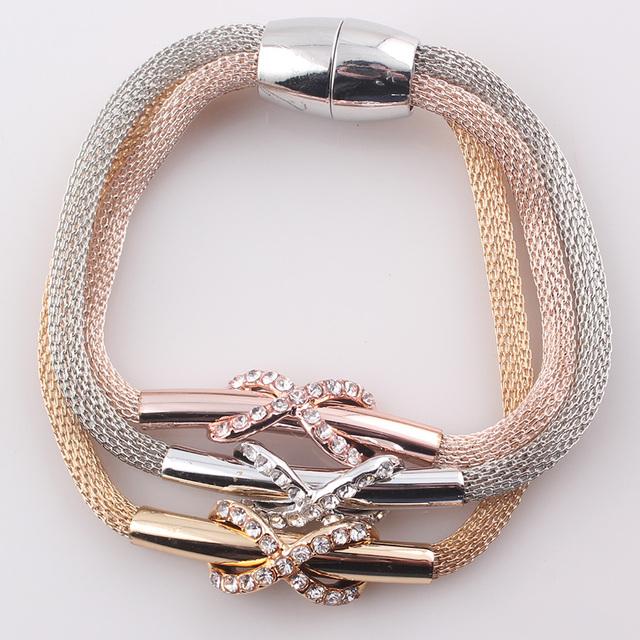 Браслеты Оптом 2016 Магнитная Застежка Bracelsets для Женщин Позолоченные Цепи Змейки ...