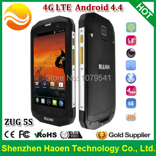 Best outdoor 4G Rugged Android Phones with 5 Inch IPS 1280x720p Qualcomm Quad core 1G Ram GPS Android 4.4 Waterproof cellphones(China (Mainland))