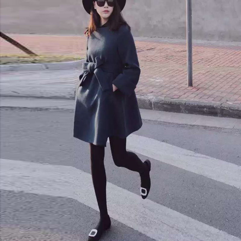women coat winter jacket wool 2015 New fashion Korean Long sleeve female Casual woolen coats Slim 7762  -  Keep wind store