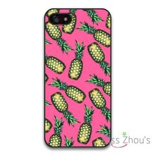 Pineapple On Pink Protector back skins mobile cellphone cases for iphone 4/4s 5/5s 5c SE 6/6s plus ipod touch 4/5/6