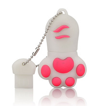 Super Mini Bear Palm pendrive 4GB 8GB 16GB 32GB 64GB USB Flash drives Real Capacity Memory USB Stick cat claw usb flash memory