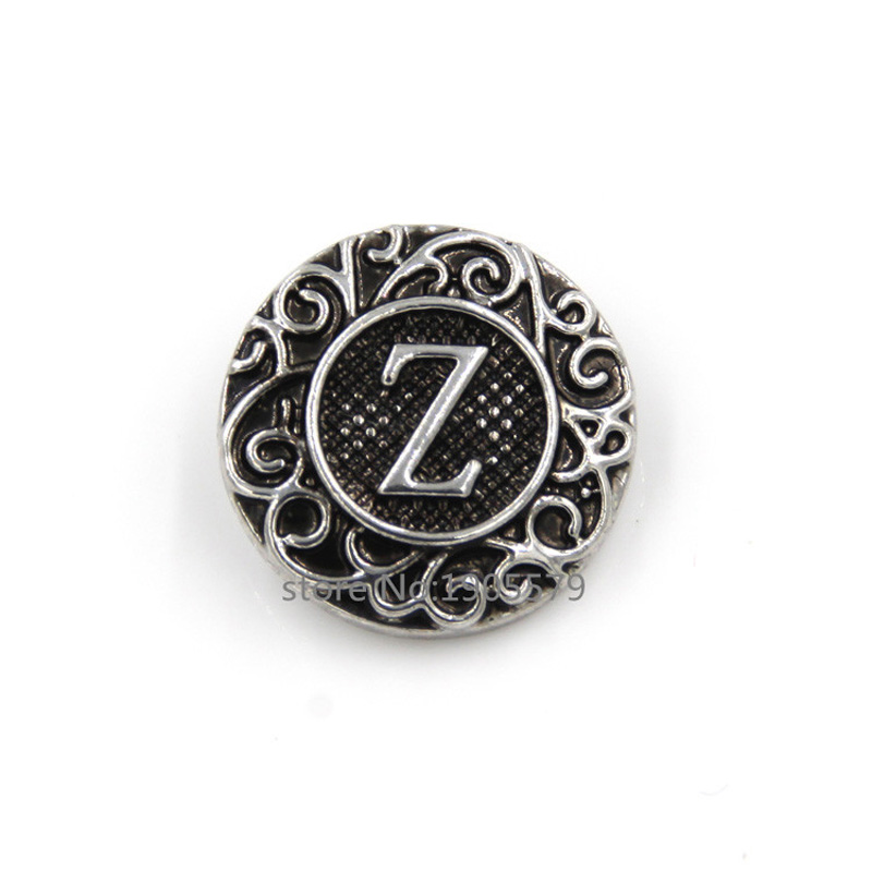 -New-Metal-Ginger-Snap-Buttons-18mm-Alphabet-Z-Ginger-Snaps-Jewelry ...