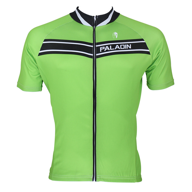 New Pro Cycling Jersey Green Color Bikes T Shirt Retro