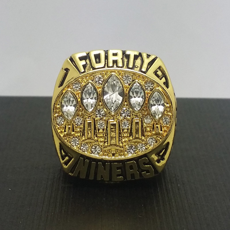 NFL 1994 San Francisco 49ers Football Super Bowl World Championship Ring 11Size 'Young' Fans Solid Back Gift Collection - ring store