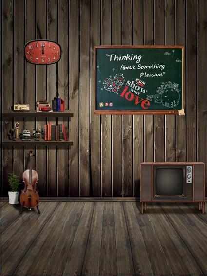 600CM*300CM Blackboard Clock TV booksbackdrop photography mini backgrounds studio backgrounds LK-1611<br><br>Aliexpress