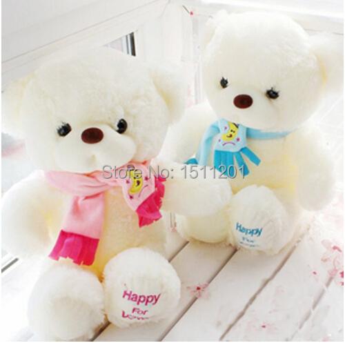 Niuniu Daddy Birthday Valentines Gift Scarf Baby Bear Wedding Plush Toy High Quality Bear Doll 2 Colors Size 30cm(China (Mainland))