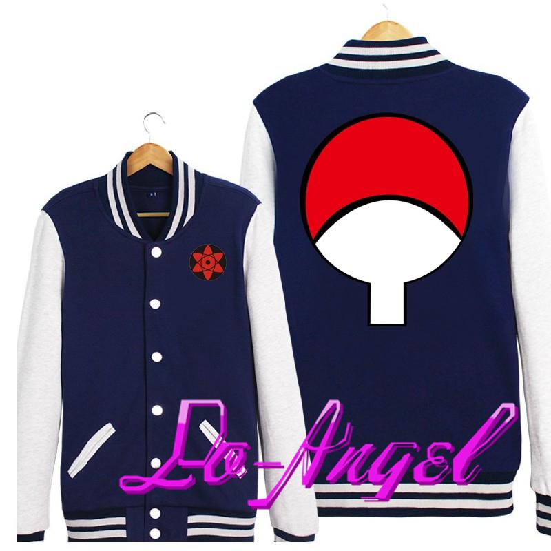 Anime Naruto Uchiha Sasuke Baseball Uniform Cosplay Costume Jacket Unisex Lovers Thin/Thick Hoodie Coat