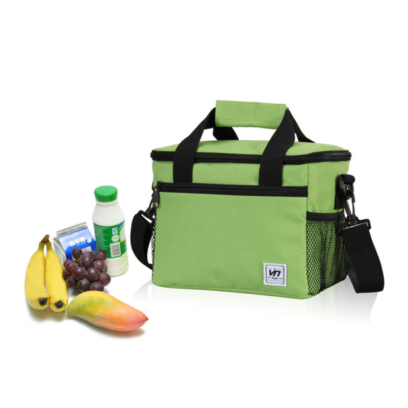 600D Material 24*16*19 CM Large Insulated Thermal Cooler Bag for Food Storage, Picnic, Sport Ice Bag Men Women Tote Handbags(China (Mainland))