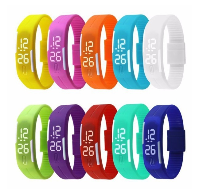 Relojes Mujer 2015 Women Watches Color Led Digital Wrist Watch Silicone Jelly Waterproof Sports Bracelet Watch Women Ladies Gift(China (Mainland))