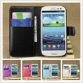 1pcs/lot באיכות גבוהה סוללה דיור Flip עור PU חזרה מקרה כיסוי עבור Samsung Galaxy S3 SIII אס 3 i9300 9300