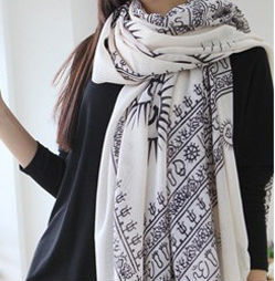 Free Shipping Sun Design Fashion Style Voile Scarf  Hot Selling 180*110cm 2013 Latest Designer For Women