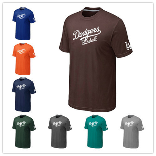 Cheap Los Angeles Dodgers Baseball T Shirts Short Sleeve O-Neck Practice T-shirt wholesale Dodgers Cotton Shirts 14 Colors(China (Mainland))