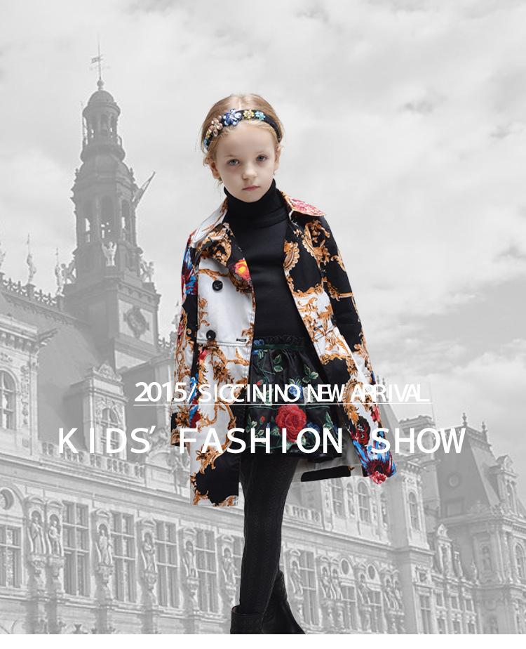 Скидки на 2016 новое девушки куртки и пальто тотем рисунок дети куртки дети зимнее пальто верхняя одежда ветровка детей пальто
