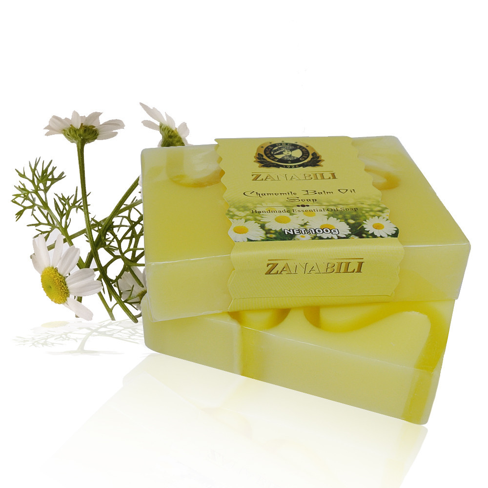 ZANABILI Brand Chamomile Soap Balm Oil Herbal Handmade Soap For Moisturize Skin Remove Acnes 1pc(China (Mainland))