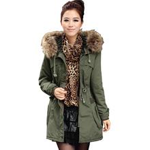 Womens Khaki Parka Coat