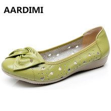 Buy AARDIMI Genuine Leather Shoes Women Solid Loafers Women Flats Ballet Spring Summer Flat Shoes Woman Moccasins Factory Outlet for $12.50 in AliExpress store