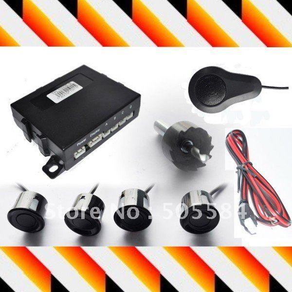 4 sensor Pure buzzer parking sensor Dual-core CPU Car reversing radar rear backup detector