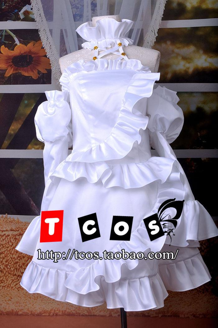 Free Shipping! Newest! Rozen Maiden Kirakishou/KiraKisho White Dress Outfit Cosplay Costume ,Perfect custom for you!Одежда и ак�е��уары<br><br><br>Aliexpress