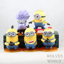 Buy Anime Figure 8 CM 5pcs/set Cartoon Despicable Minions Cute Mini Figure Toys PVC Action Figures Dolls Model Collectibles Toys for $11.99 in AliExpress store