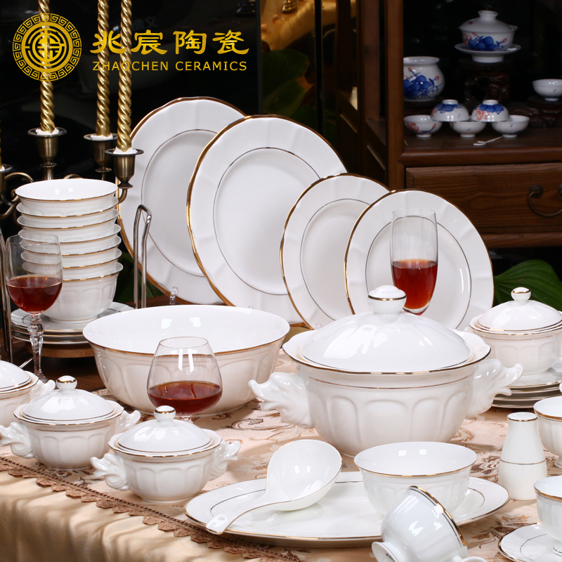 2015 new design royal bone china tableware sets high grade for Kitchen set royal