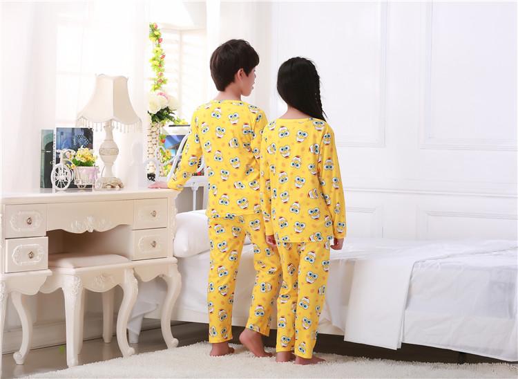 Hot kids pajamas sets Lovely cartoon Sleepwear Children ...
