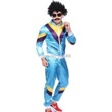 80 s Scouser костюм оболочки костюм мужчины голубая маскарадные костюмы ну вечеринку костюм равномерное