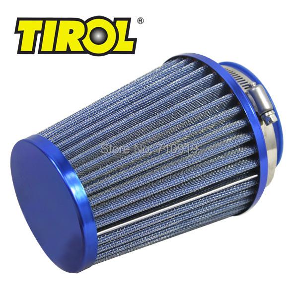 T11649b TIROL Round Tapered Mini Power Stack Air Intake/ Air Filter Diameter 76mm Blue(China (Mainland))