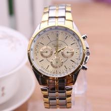 Rosra cuarzo de la marca famosos hombres reloj de vestir Top Luxury Brand acero inoxidable Band mujeres se divierte reloj negocios envío gratis