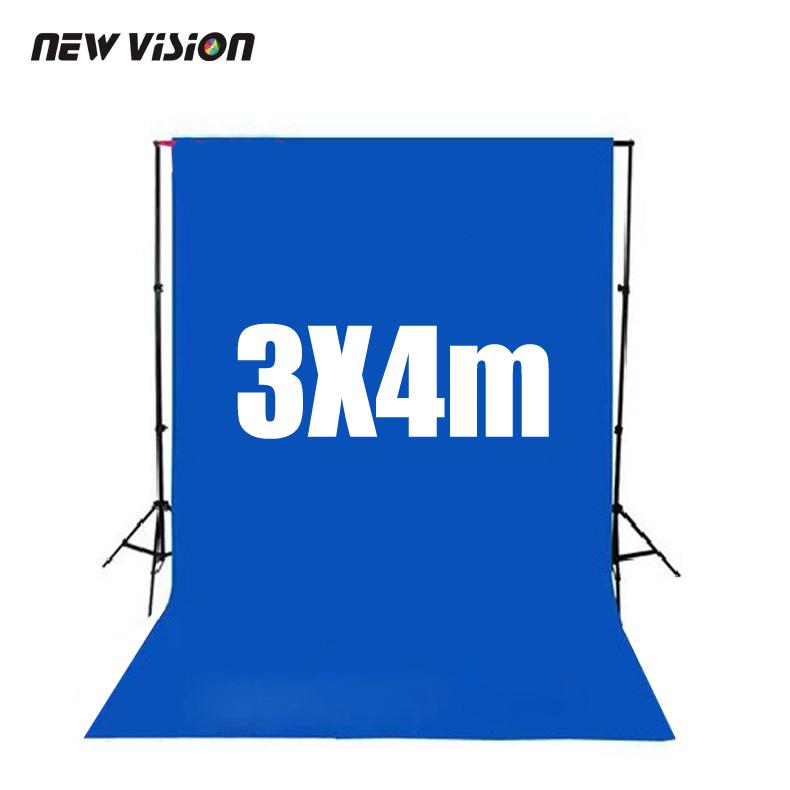 Deep blue Screen Chroma key 3 x 4M Background Backdrop for Studio Photo lighting (Thickening version)(China (Mainland))