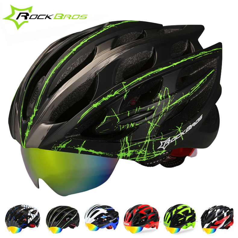 RockBros MTB Road Bicycle Bike Helmet Men/Women Cycling Helmet 2015 Goggles Helmet With 3 Pair Of Lens Casco Ciclismo 19 Colors(China (Mainland))