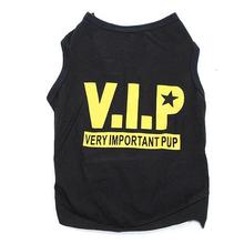 Bidwise VIP Pet Vest Dog Puppy T Shirt Very Important Pup Black Clothing(China (Mainland))