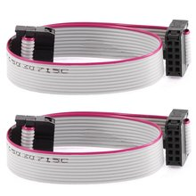 Buy F/F IDC Connector 10 Pins Flat Ribbon Cable 2.54mm Pitch 20cm 2pcs arduino for $1.16 in AliExpress store