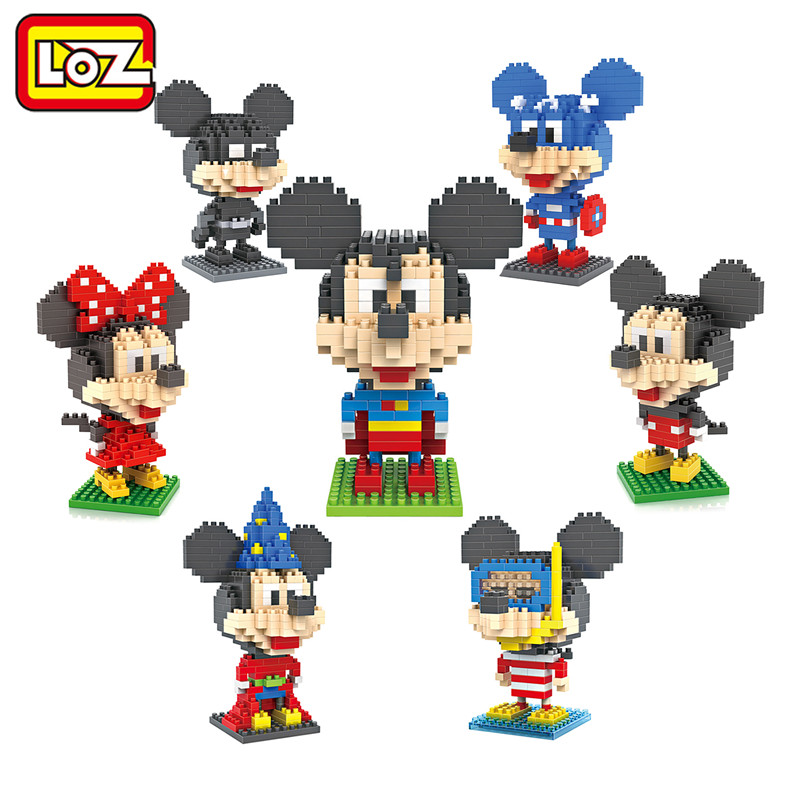 Building Blocks Superman Batman Magician Diver Captain America Mickey and Minnie Toys for Children Middle Size 9+ Gift(China (Mainland))