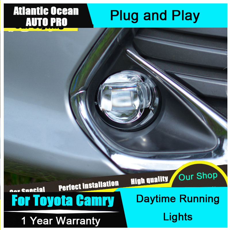 buy auto pro 2015 for toyota camry led fog lights led drl ca. Black Bedroom Furniture Sets. Home Design Ideas