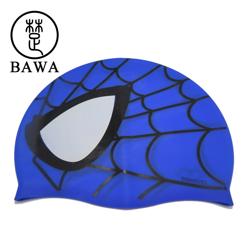 New Brand Free Size Swimming Caps WaterProof Cartoon Swimming Caps for Kids Sillicon Protection Swim Caps(China (Mainland))