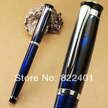 BAOER 508 blue black roller ball pen writing stationery school metal pens - AA store