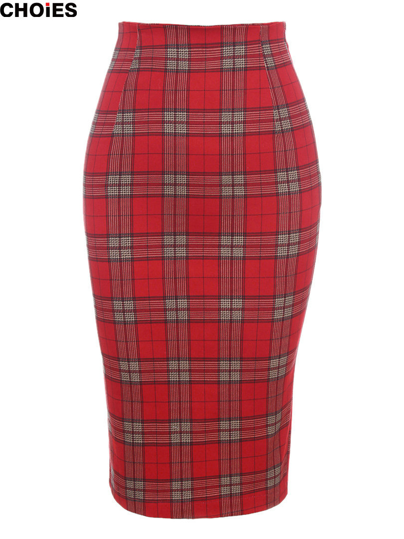 Perfect Wool Plaid Skirt  Lined For Women In Grey Plaid