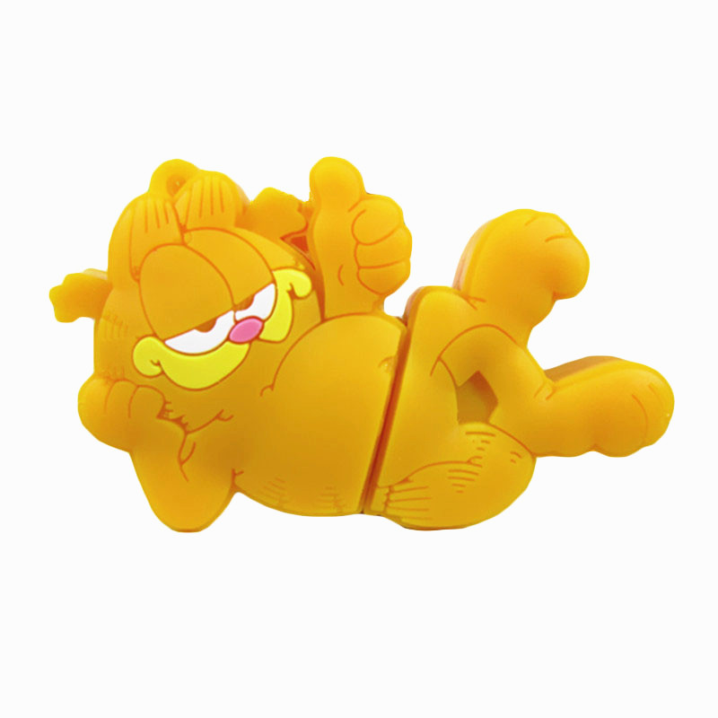 Pen drive cartoon Garfield 8gb 16gb 32gb 64gb usb 2.0 flash drive memory card stick disk Storage Device pendrive gift(China (Mainland))
