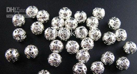 7500PCS silver plated filigree spacer beads 8mm M288<br><br>Aliexpress