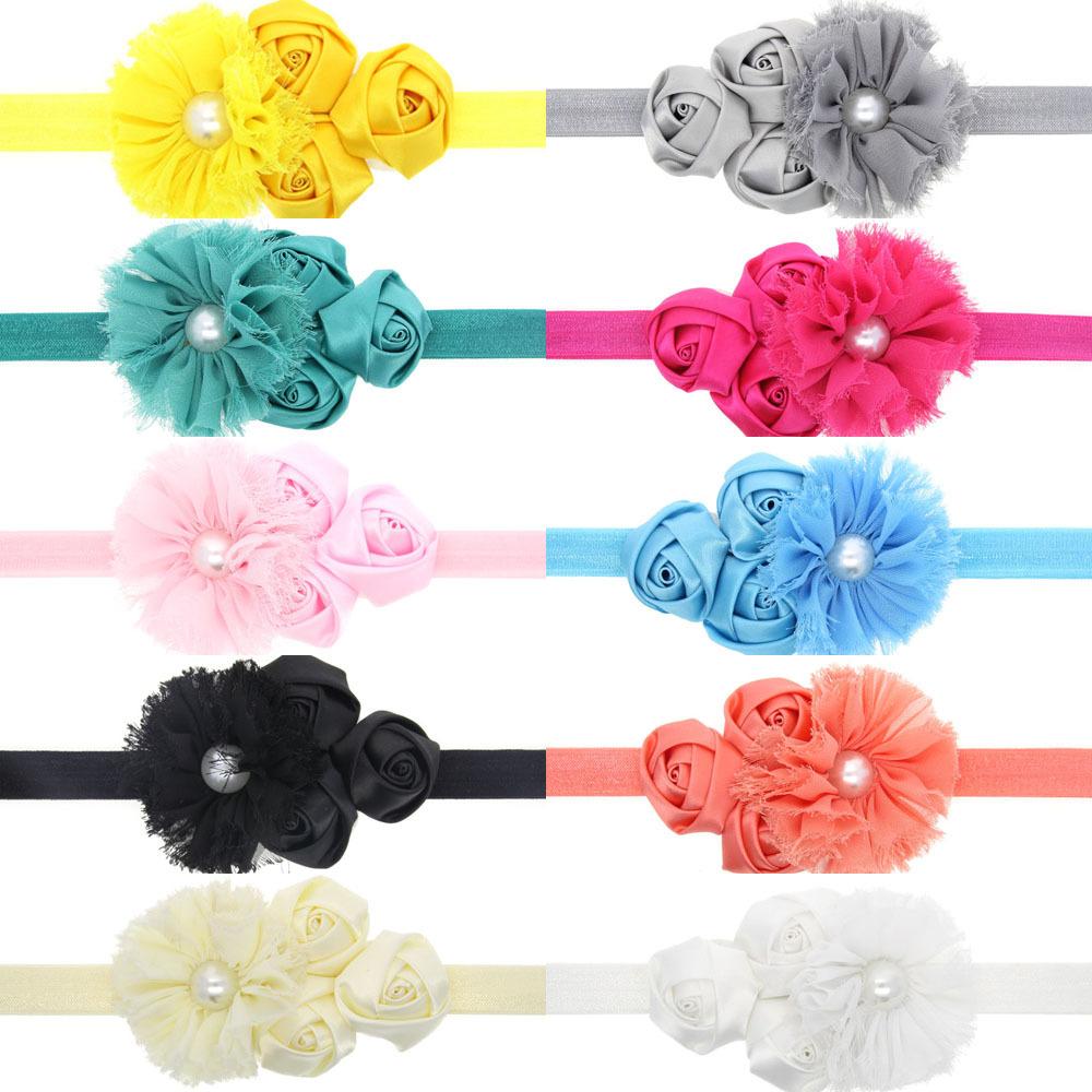 shabby chic flowers St Patrick's Day Headband Baby Headband Little Girl Headband Couture Headband(China (Mainland))