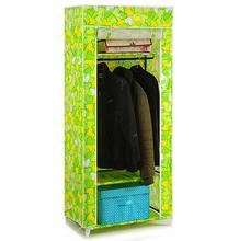 YoHere furniture bedroom steelframe folding fabric wardrobe closet clothes storage cabinet portable wardrobe hanging(China (Mainland))