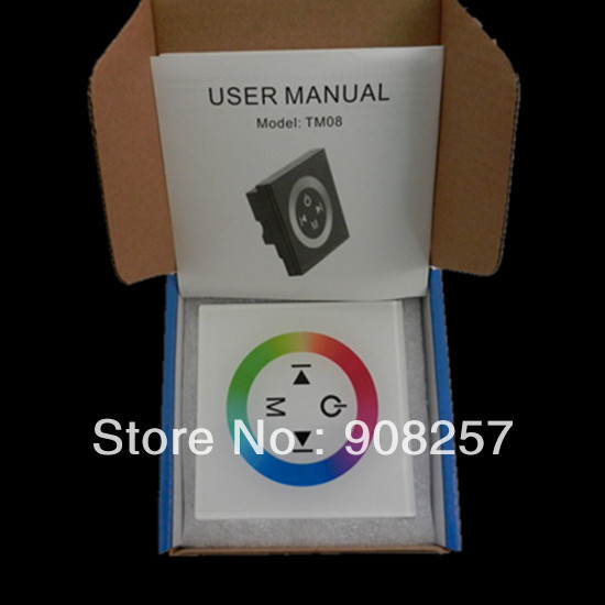 free shipping RGB LED Touch Panel Controller Dimmer Wall Switch Ring 12-24V For RGB Strip