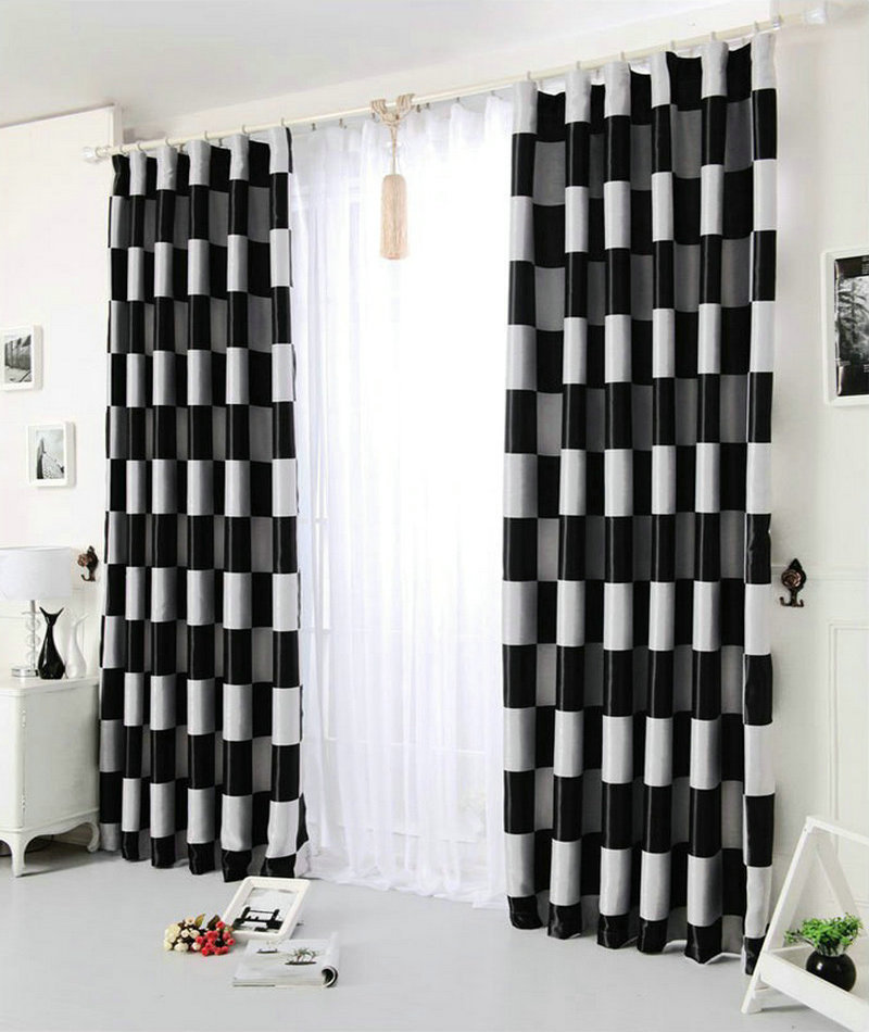 On sale modern curtain blackout curtains for living room for Hotel drapes for sale