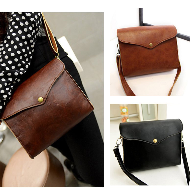 High Street New Retro Flap Women Bolsos Faux Leather Bolsos Mujer Mini Small Shoulder Bag Black/Brown/Coffee Women Bags(China (Mainland))