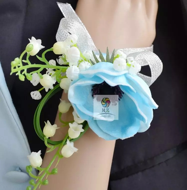 DIY Groom Corsages Best Man Boutonniere for Wedding Party Bride wrist Flowers Bridesmaid Corsages Rose Decoration for wedding(China (Mainland))