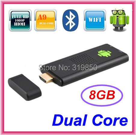 Bluetooth MK809 Android 4.4.2 Mini PC TV Stick Rockchip RK3066 Cortex A9 1.6GHz Dual core 1GB RAM 8GB ROM MK809III 3D TV Box