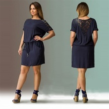 Buy 2017 Navy Summer Dress Plus Size Women Clothing Large Size Loose Lace Dress Big Size Short Dress 6XL Casual Women Dress Vestidos for $11.68 in AliExpress store