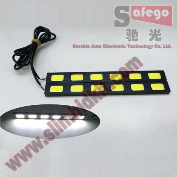 2 pcs best cob chip cob 6000K-6500K led strip COB chip led 3.0W/pcs *6 * 2 cob car led drl36w AluminumCOB Chip Bar Panel(China (Mainland))