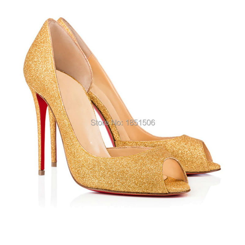 Фотография Women Pumps 2016 New Fashion Woman Shoes Sexy Gold High Heel Pumps Super Star Shoes Gold Heel Shoes Party Shoes US Size 4-15